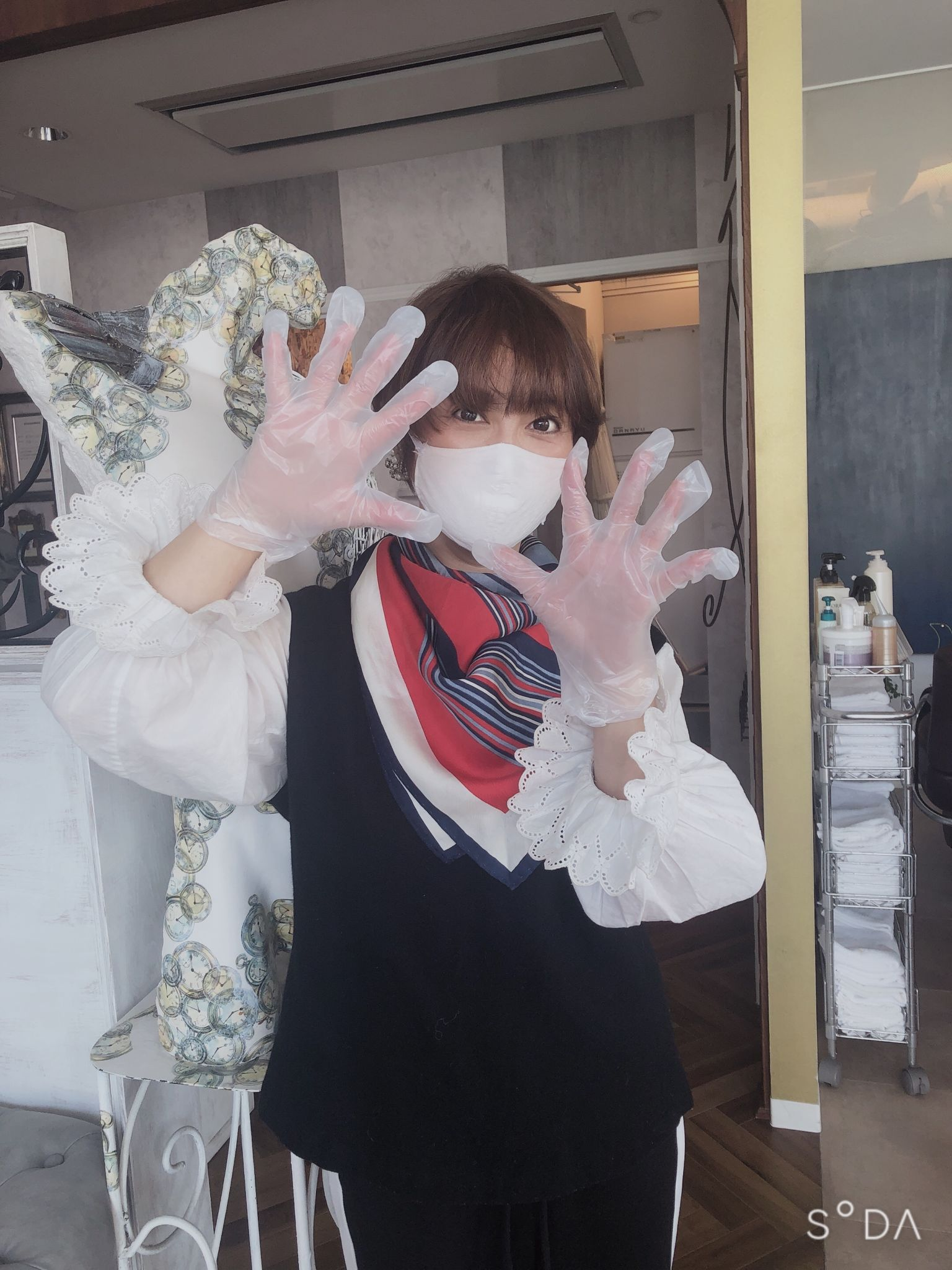 ご来店時の使い捨て手袋